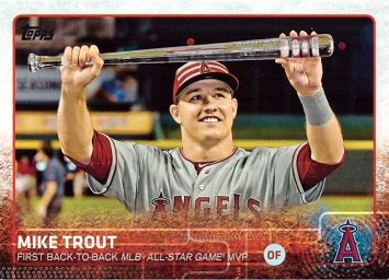 Amazoncom 2015 Topps Update Us227 Mike Trout Checklist
