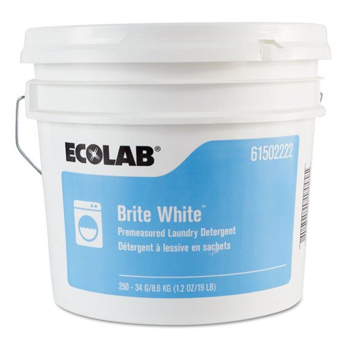 Brite White Np Laundry Detergent, Fresh, 1.2oz Packets, 250 Packets/pail
