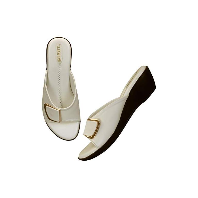 41W kmTZrQL. SS768  - 1 WALK Comfortable Women-Flats/Fashion Slippers/Casual Footwear/Party slippers/MP-E101(A,B,C,D,E,)-$P