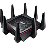 ASUS AC5300 WiFi Tri-band Gigabit Wireless Router with 4x4 MU-MIMO, 4x LAN Ports, AiProtection Network Security and WTFast Game Accelerator, AiMesh Whole Home WiFi System Compatible (RT-AC5300)
