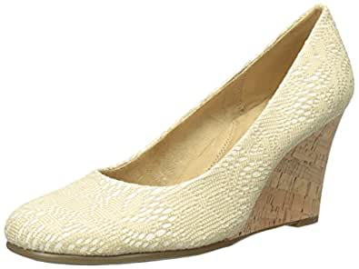 Aerosoles Women's Plum Tree Wedge Pump, Natural Eyelet, 6 M US