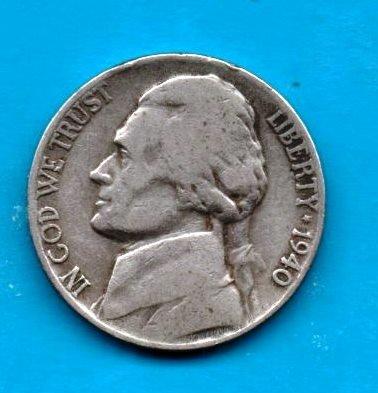 1940 Jefferson Nickel - 1940 Jefferson Nickel