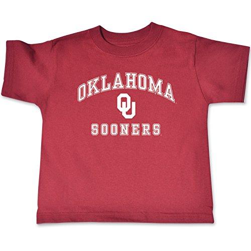 NCAA Oklahoma Sooners Toddler Short Sleeve Tee, 5/6 Toddler, Cardinal