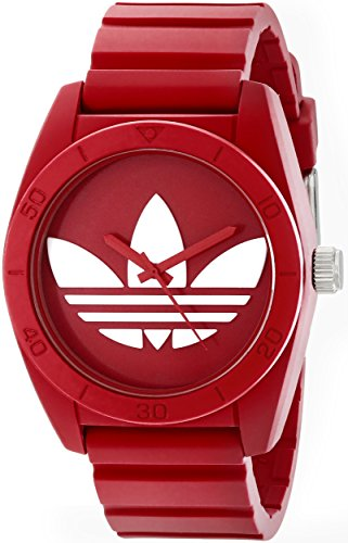 adidas Unisex ADH6168 Santiago Red Watch With Red Silicone Band - Adidas Watches For Men