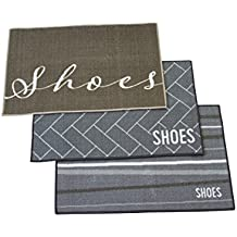 Brown remove shoes doormat, 3 Styles to choose from! Take off shoes in entryway, mudroom, garage for clean house