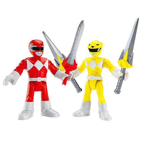 Imaginext Red Ranger & Yellow Ranger Power Rangers Figure 2.5