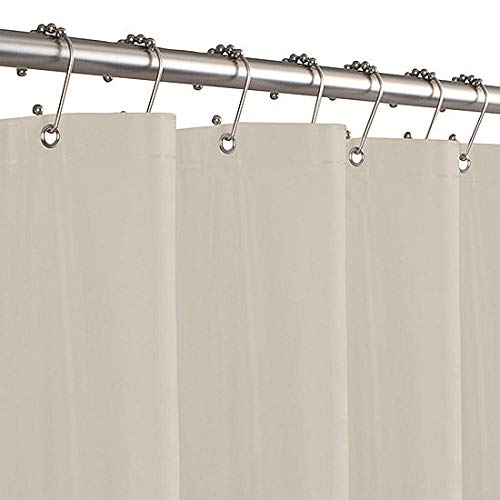DINY Home Collections Hotel Quality Shower Curtain Liner Heavyweight Vinyl Magnetic Hem Waterproof (Beige)