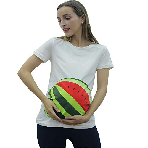 GZ-VMASS Maternity T-Shirts Pregnant Women White Tee Shirts Casual Tops Cute Mama Pregnancy Clothes (1, M) (Happiness Maternity T-shirt)