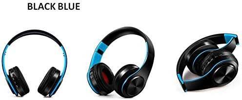 S S SKY SINCERITY Bluetooth V5.0 Over Ear Headphone Comfortable Noise Isolation Earpads, Lightweight Foldable Wired Wireless Stereo Headset with mic for Cell Phone Blue
