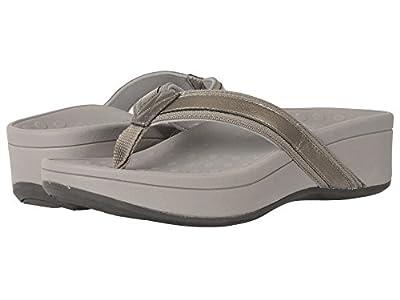 Vionic Women's High Tide Platform Sandal (8 B(M) US, Pewter Grey)