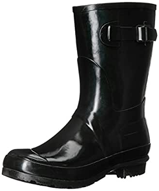Aerosoles Women's Date Rain Boot, Black, 7 M US