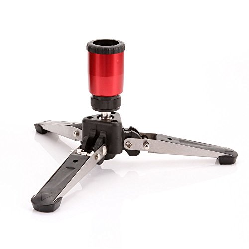 FocusFoto Mini Tripod Feet Three Legs Support Stand Base 3/8 for Monopod Benro Manfrotto