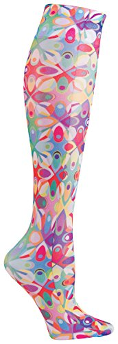 f3131b4449 Celeste Stein Women's Mild Compression Knee High Stockings - Abstract Colors