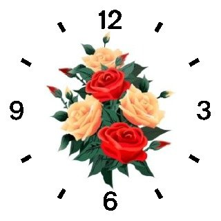 Red & Peach Roses - Rose Flower Bouquet - JP - WATCHBUDDY DELUXE TWO-TONE THEME WATCH - Arabic Numbers - Blue Leather Strap-Size-Children's Size-Small ( Boy's Size & Girl's Size )