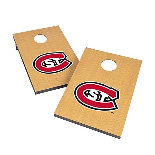 - Victory Tailgate NCAA 2x3 Travel Cornhole Set - 2 Boards, 8 Bags - Saint Cloud State Huskies