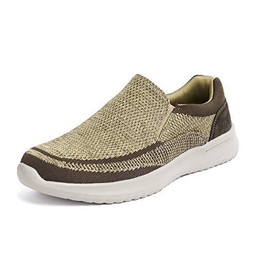 Bruno Marc Men's Slip On Walking Shoes Mesh Sneakers Walk-Easy-01 Khaki Size 12 M US