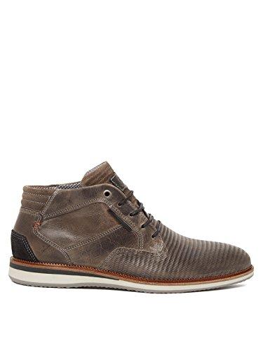 BULLBOXER - Zapatos de cordones de Cuero para hombre gris oscuro