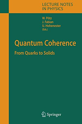 Quantum Coherence: From Quarks to Solids (Lecture Notes in Physics)