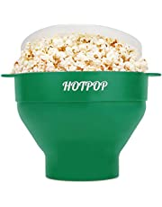 The Original Hotpop Microwave Popcorn Popper, Silicone Popcorn Maker, Collapsible Bowl Bpa Free and Dishwasher Safe