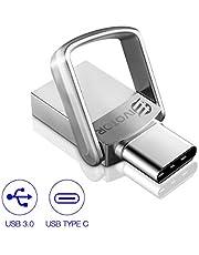 Chiavetta USB 64GB, EIVOTOR Pendrive 3.0 + Pen drive Type C 3.1 OTG Unità Flash Drive Tipo C 2 in 1 Portatile Memoria USB Impermeabile con Portachiavi