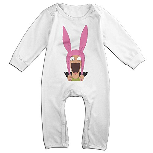Price comparison product image Dara Bob's Burgers NewBorn Long Sleeve Baby Climbing Clothes White 24 Months