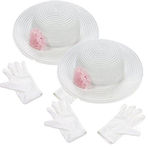 Fun Express Polyester Tea Party Hat Gloves Set (2 (Unique Hats Gloves)