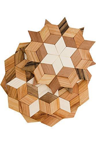 Tea Trivet (ECOVOO Wooden Trivets For Kitchen - Set of 2 Round Trivet Large & Small For Tea Pot - Best Hot Pot Trivet)