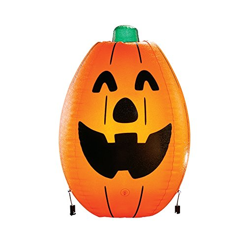 Inflatable Pumpkin Halloween Yard Stakes, (Home Depot Halloween Yard Decorations)