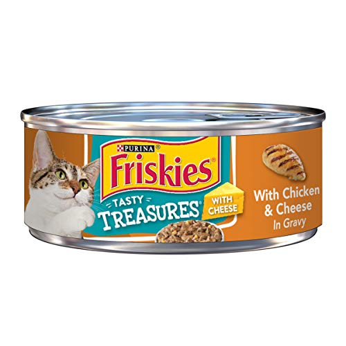 Purina Friskies Tasty Treasures With Chicken & Cheese In Gravy Adult Wet Cat Food - (24) 5.5 Oz. Cans