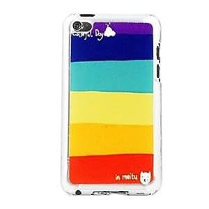ZXM- franja vena de cuero patrón pc estuche rígido de color para ipod touch 4