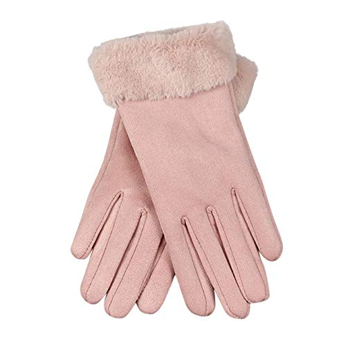 Morecome Touch Screen Gloves Women Leather Gloves Fleece Soft Gloves Riding/Outdoor/Driving