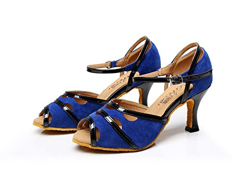 Jazz Latin High Blue Sandals Dance Our41 5 Salsa Shoes Tea UK6 heeled7 Women's EU40 Samba Tango Modern JSHOE Shoes Heels 5cm 8dqwPAP