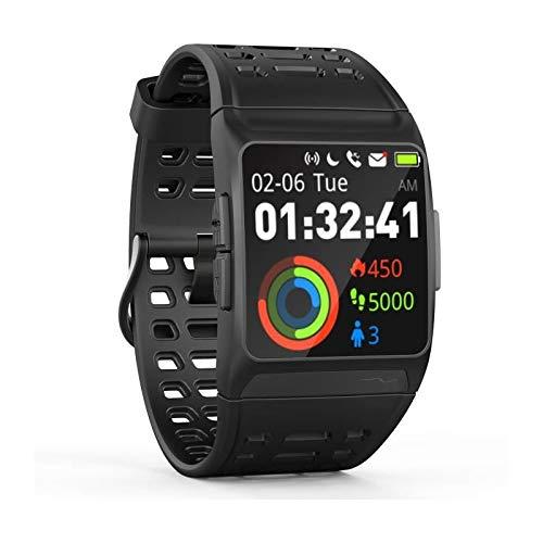 Wee'Plug Explorer 3S Black Smartwatch Voor Volwassenen, Unisex, Eenheidsmaat, Zwart