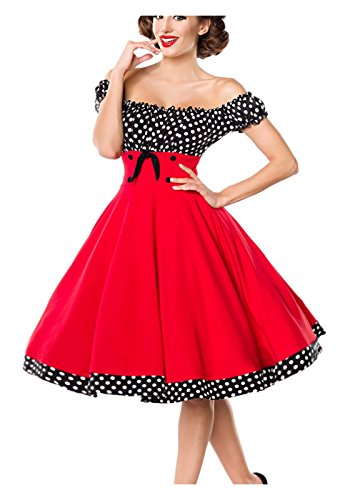 Negro Mujer Para Belsira Blanco Y Rojo Vestido T5Exvw4xqI