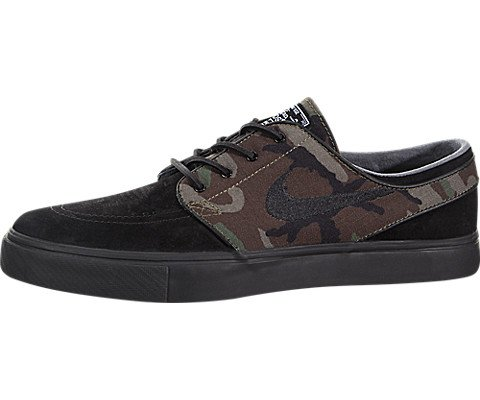 Nike Zoom Stefan Janoski OG Mens Fashion-Sneakers 833603-002_9.5 - Black/Black-Medium Olive-White (Nike Stefan Janoski All White)