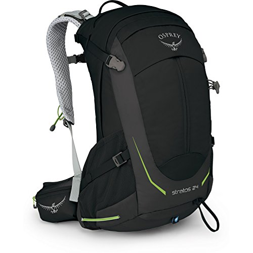 Osprey Packs Stratos 24 Backpack, Black, o/s, One Size