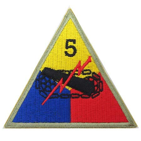 Epic Militaria Replica US 5th. Armored Division Patch (5th Armored Division Battle Of The Bulge)