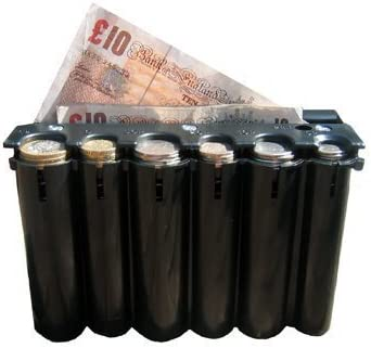 5x COIN HOLDER £1 one Pound cash change dispenser pocket taxi Black leather NEW