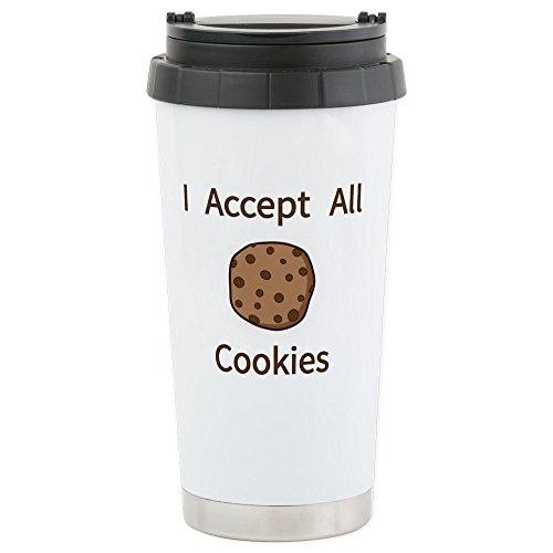 CafePress - I Accept All Cookies - Stainless Steel Travel Mu