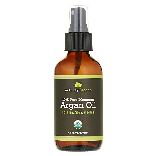 Price comparison product image ActuallyOrganic Argan Oil Hair Face Skin Nails Beard-NOT SYNTHETIC-NO BAD SMELL- 100% Pure USDA Organic-Lab Tested for Purity-Silky Smooth Hair-Softer Skin-Anti Aging-Cold Pressed Unrefined Virgin
