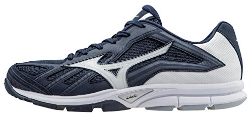 Mizuno Men's Players Trainer Turf Shoe, Navy/White, 9 M US