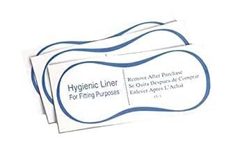 True Fit Protective Hygienic Clear Adhesive Liners Strips Swimwear Bikini Lingerie (50)