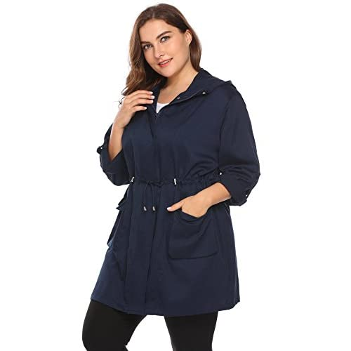 6e9f4ae18d4 Zeagoo Plus Size Fall Anorak Street Fashion Hoodies Active Lightweight Zip  up Women Safari Jacket durable