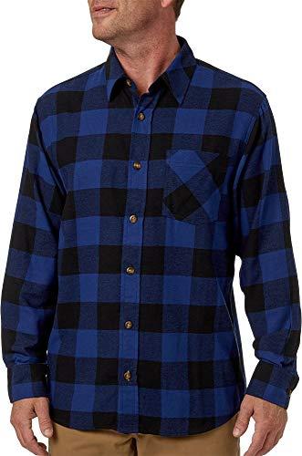 Field & Stream Men's Classic Lightweight Flannel (Buff Sdlite Blu, Large) ()