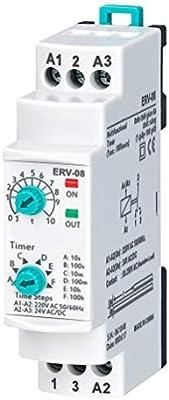 Rele Temporizador 10sg a 100 horas. Minutero de Escalera. 150-260VAC 24VDC 50/60 Hz: Amazon.es: Bricolaje y herramientas