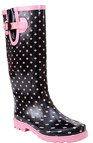 Stivali Wyre Black Spots Pink Valley Donna 815wavq