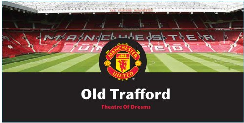 Manchester United Stadium Velour Beach Towel