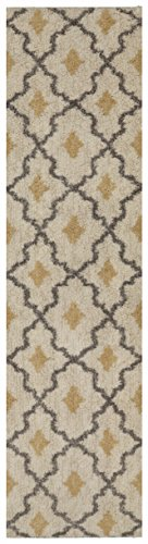 Mohawk Home Ithaca Runner Rug, Beige and Gold, 2 x 8