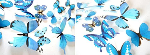 Wall-StickerSMTSMT-12pcs-Decal-Home-Decorations-3D-Butterfly-Rainbow