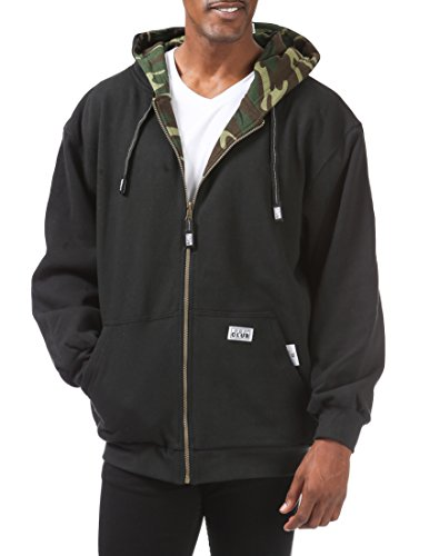 Pro Club Men's Full Zip Reversible Fleece and Thermal Hoodie 3